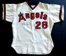 Vada Pinson Signed 1974 California Angels Team Issued Jersey JSA LOA Goodman WOW