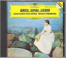 Anne Sofie VON OTTER: GRIEG Lieder Haugtussa Gruss Ein Traum CD Bengt FORSBERG