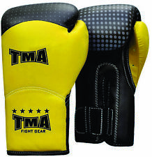 Tma Leather Boxing Gloves Muay Thai Punch Bag Sparring Mma Training Kickboxing