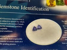 TANZANITE genuine 1.14ctw pair certified natural loose trillion gem Blue VINTAGE