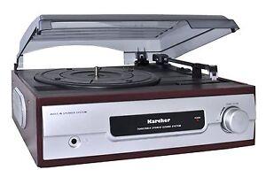 Karcher KA 8050 Schallplattenspieler integrierter Lautsprecher Plattenspieler
