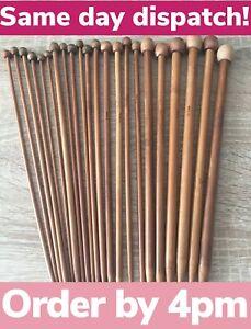 Quality Bamboo Knitting Needles Pair 2-10mm Eco Vegan UK Seller *Same Day Disp