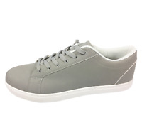 Mens Grey Faux Leather Lace Up Pumps Style Casual Shoes Trainers Size UK 13 New