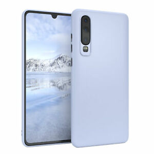 For Huawei P30 cover Soft Case Silicone Protection Slim Matte Light Blue