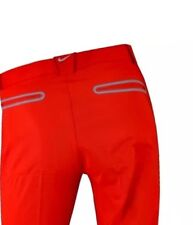 Nike Modern Tech Golf Pants Slim-Fit Mens Trousers - Red/Gray (509737-660) 34-32