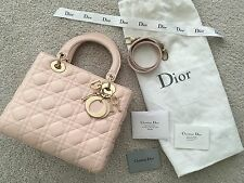 Christian Dior Lady Dior Medium Lambskin Cannage Rose Poudre Pink Handbag Bag