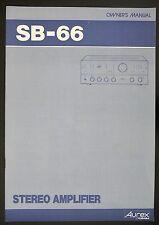 TOSHIBA / Aurex sb-66 Original Estéreo Amplificador INSTRUCCIONES DE EMPLEO /