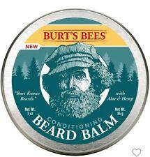 New BURT'S BEES Conditioning Beard Balm.With Aloe & Hemp 3.Oz/ .85g. New Sealed!
