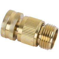 Garden Hose Quick Connect Solid Brass Quick Connector Garden Hose Fitting.