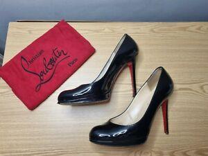 Christian Louboutin Heels Authentic Simple Pumps 👠 Size 6 / 7 / 40 Black Patent
