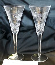 "WATERFORD CRYSTAL MILLENNIUM TOASTING CHAMPAGNE FLUTES ""PEACE"" MINT"