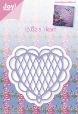 JOY CRAFTS DIE CUTTING EMBOSSING STENCIL - BILLIE'S HEART 6002/0344 REDUCED