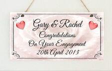 Beautiful Hand Made Plaque Congratulations Engagement Wedding Sign Present Gift