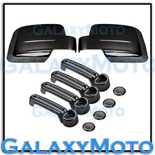 Triple Black Chrome plated Mirror+4 Door Handle Cover for 08-12 JEEP LIBERTY