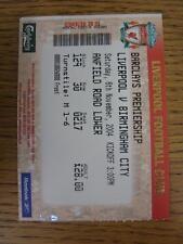 06/11/2004 Biglietto: Liverpool V Birmingham City. l'oggetto in ottime condizioni, UNL