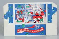 Vintage Cardboard Christmas Treat Candy Box SANTA Antique NEW OLD STOCK