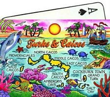 TURKS & CAICOS MAP CARIBBEAN COLLECTIBLE SOUVENIR PLAYING CARDS