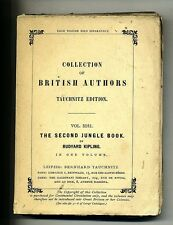 Collection of british authors#THE SECOND JUNGLE BOOK # R.Kipling #Tauchnitz 1897