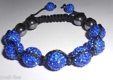 Shamballa Blue Czech Crystal Bracelet - Bangle