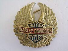 BELT BUCKLE HARLEY DAVIDSON H 501 EAGLE BAR SHIELD MOTORCYCLE BIKER SOLID BRASS