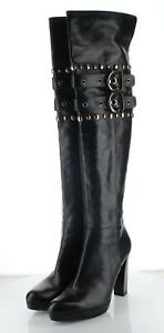 63-51 NEW $650 Women's Sz 8 Stuart Weitzman Carnaby Leather OTK Boots - Black