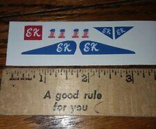 """E K"" STUNT CYCLE STICKERS add on custom evel knievel"