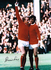 DENIS LAW MANCHESTER UNITED MAN UTD SIGNED 16X12 PHOTO AUTOGRAPH COA GEORGE BEST
