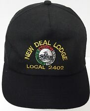 Vtg 1990s NEW DEAL LODGE LOCAL 2402 BMWE BMWED ADVERTISING ADJUSTABLE HAT CAP