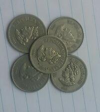 1 Colon El Salvador 1985 Coin Lot Of 5 Circulated Cristobal Colon Columbus