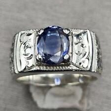 Men's Natural Blue Sapphire Ring Mens Sapphire Ring Super Clean Sapphire stone