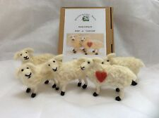 Complete Needle Felting Kit For A sheep Or 'I Love Ewe' Sheep  gift anytime Love