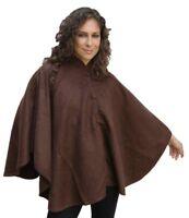 Alpaca Wool Cloak Wrap Cape Poncho, Brown