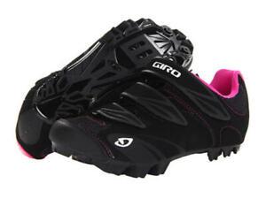 Giro Riela Women's Mountain Cycling Shoes, Black Rhodamine Red