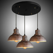 3-Light Industrial Pendant Ceiling Lamp Bar Kitchen Lighting Fixture Metal Dome