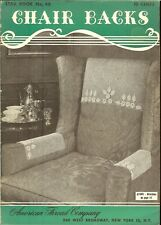 CHAIR BACKS & Arm Rests -  Star Book #46 -  Vintage Knit & Crochet Booklet