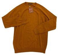 $1,000 Loro Piana Rust Cashmere Sweater Size XXL, EU 56 Made in Italy
