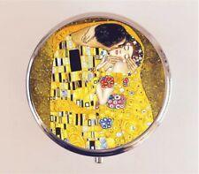 Gustav Klimt The Kiss Pill Box Pillbox Case Art Nouveau Art Painting Stash Box