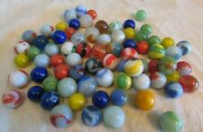 vintage solid blue, green,yellow,orange vitro agate  Marbles 76