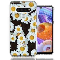 For LG K51 Cute Daisy Flower Design Double Layer Phone Case Cover