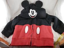 Disney Parks Mickey Mouse Ear  Fleece Zippered  Hoodie  24 months