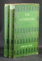 First Edition 1956 The Notebooks of Simone Weil Volumes I & II Hardcover w/DJ