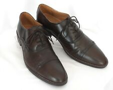 HUSH PUPPIES Size 10.5 (44) Brown Leather Cap-Toe Classic Elegance Dress Oxfords