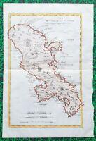 XVIII ème - île de la Martinique Belle Carte par Rigobert Bonne 37x25 cm de 1770
