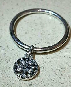 PANDORA DANGLING FAMILY RING , 197782CZ, S925 ALE STERLING SILVER,ALL SIZES
