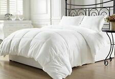Equinox All-Season White Quilted Comforter - Goose Down Alternative Queen