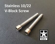 Ruger 10/22 V-Block Screws Custom Machined Stainless Steel Fits Volquartsen KIDD