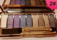 9 Diamond Urban Color Makeup Glitter Eyeshadow Palette shade 02 Best Gift Beauty