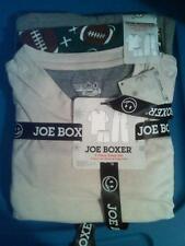 NWT MENS JOE BOXER 3-PC SS SLEEP SET PAJAMAS SIZE SMALL FOOTBALLS CARGO PANTS