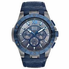 Cerruti 1881 Mens Gents Gunmetal & Blue Designer Wrist Watch CRA23702