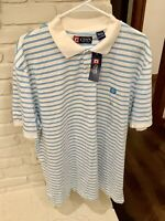 Chaps Mens XXL Striped Polo Shirt, New with Tags
